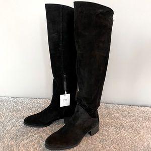 Zara Suede Knee High Boots Size 39